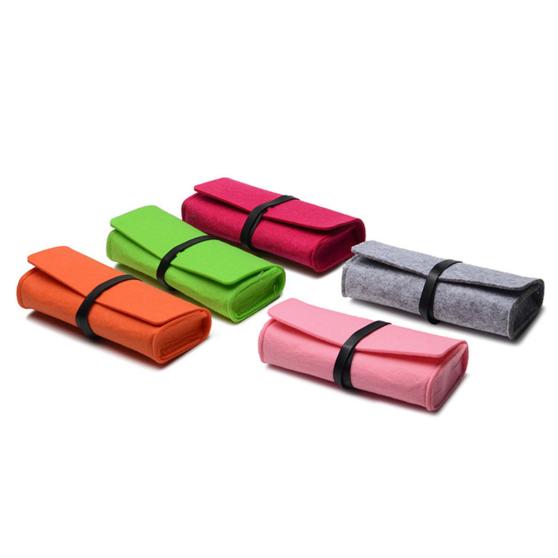 New Felt Sunglasses Case For Women Kleurrijke Candy Brillen Doos - Kledingaccessoires - Foto 2