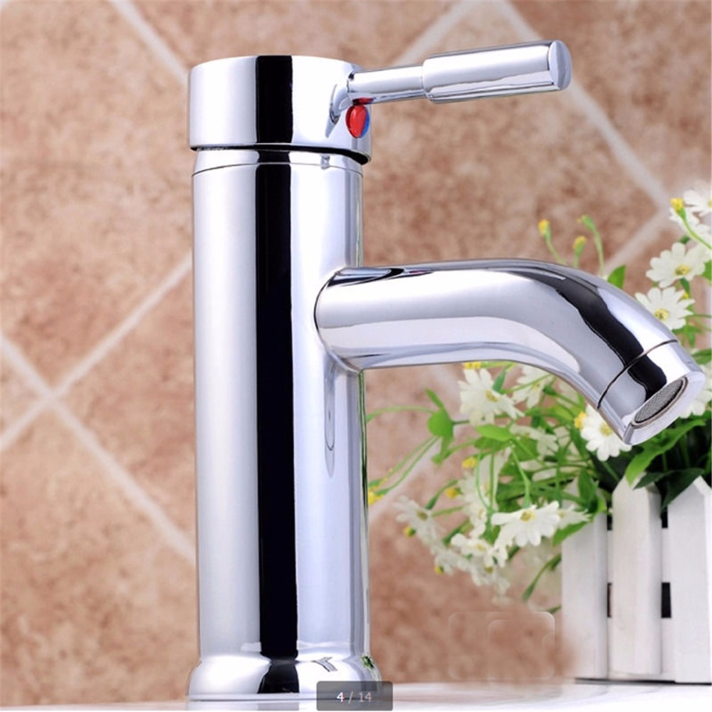 Chrome Brass Bathroom Kitchen Basin Faucet Vanity Sink Mixer Tap Single Handle Without the hose