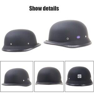 Image 5 - Dot pół twarzy Retro kask motocyklowy Retro kask kask wodoodporna kask