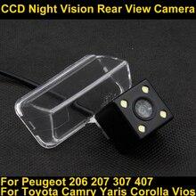 Car Rear view Camera Parking Backup Camera For Toyota Camry Verso EZ 2012 Yaris 2013 Corolla Vios 2014 Peugeot 206 207 307 407