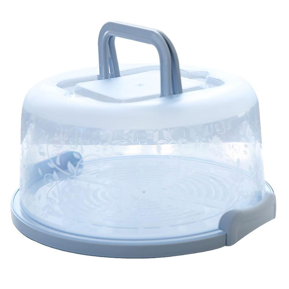 Контейнер для кексов хранение кондитерских изделий коробка для торта ручной День рождения прочный круглый Портативный - Цвет: blue