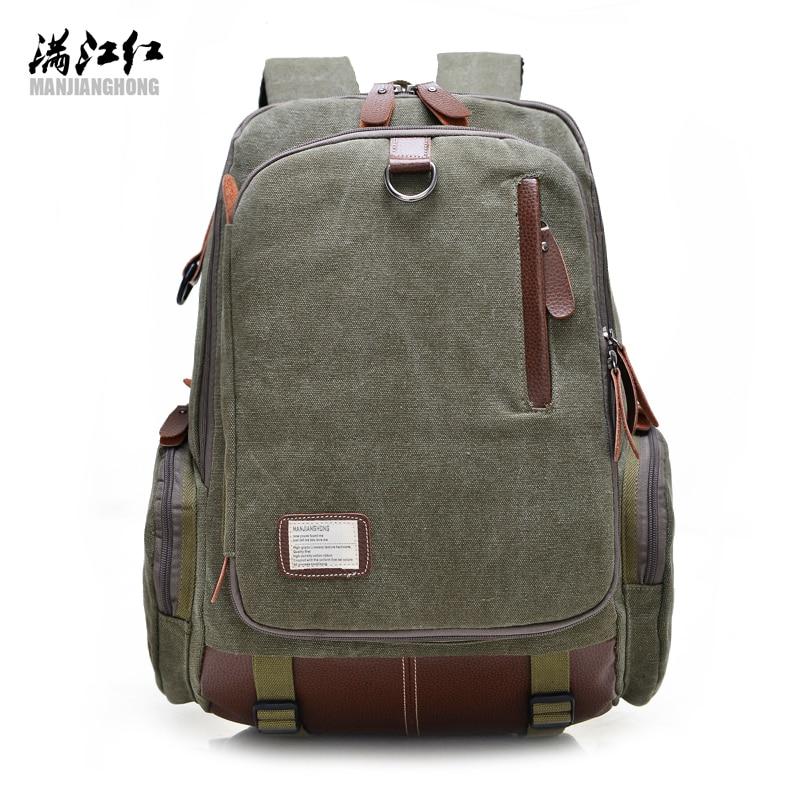 ФОТО 2017 New Men's Backpacks Vintage Canvas Backpacks Fashion Mochila School Bags for Laptop Men Shoulder Travel Bag F99