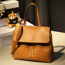 Leather Women bag Cover Messenger bags for ladies vintage designer female handbags American Style tote bag HB0068