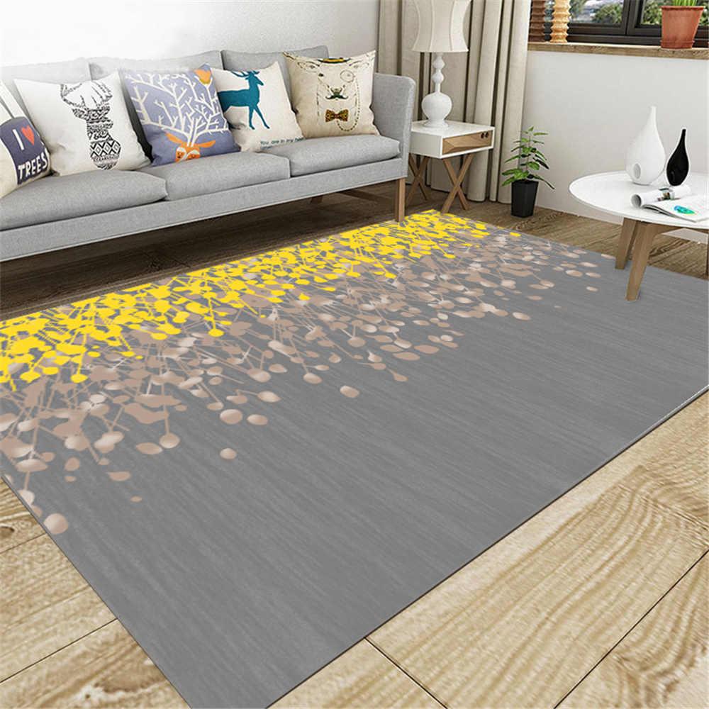 SHIERJU 80x160 cm Europe tapis de sol pour la maison 100% Polyeste imprimé anti-bactéries paillasson anti-dérapant chambre confortable tapis de cuisine - 6