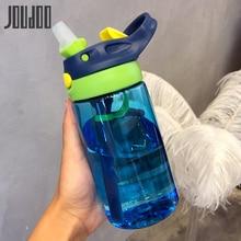 JOUDOO 480ML BPA Free Sports Water Bottle Kids Straw Bottles Tritan Baby Tour 35