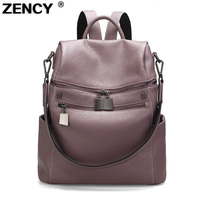 Zency Woman Travelling Backpack Luxury Brand Genuine Leather Women S Backpacks Ladies Girl S School Bag