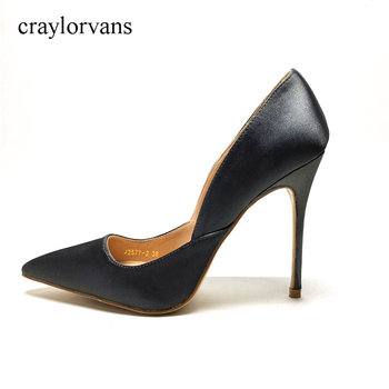 Brand Women High Heel Shoes Basic Model Pumps Lady Sexy Pointed Toe 2017 Office Ladies Women Pumps Handmade Slike Shoes