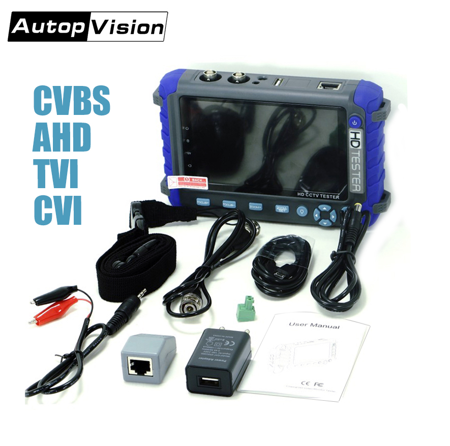 IV8C CCTV Camera Monitor Professional CCTV Testing Tool 5 Inch Display  8MP AHD TVI 8MP CVI CVBS CCTV Camera Tester Monitor PTZ