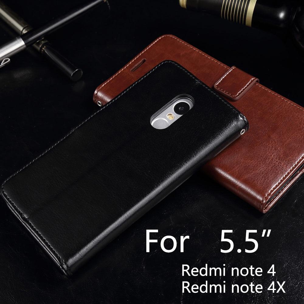 Buatan tangan Untuk Redmi 4x4 Pro Kasus Kulit Mewah Dompet Pemegang - Aksesori dan suku cadang ponsel - Foto 4