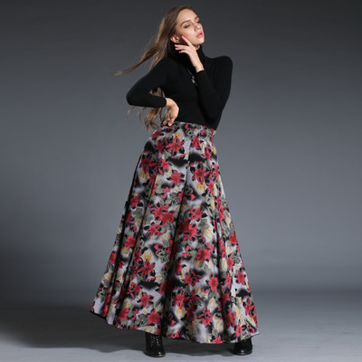 Online Get Cheap Long Floral Skirts with Pockets -Aliexpress.com ...