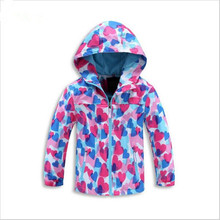 2016 Autumn Windproof Kids Jackets Children Outerwear Coat Spring Casual Girls coat Waterproof Girls Jackets For 3-12years