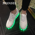 Tamaño 30-45 shoes con luz led up boys girls shoes para niños luminoso glowing sneaker shoes niños canasta femenino led zapatillas