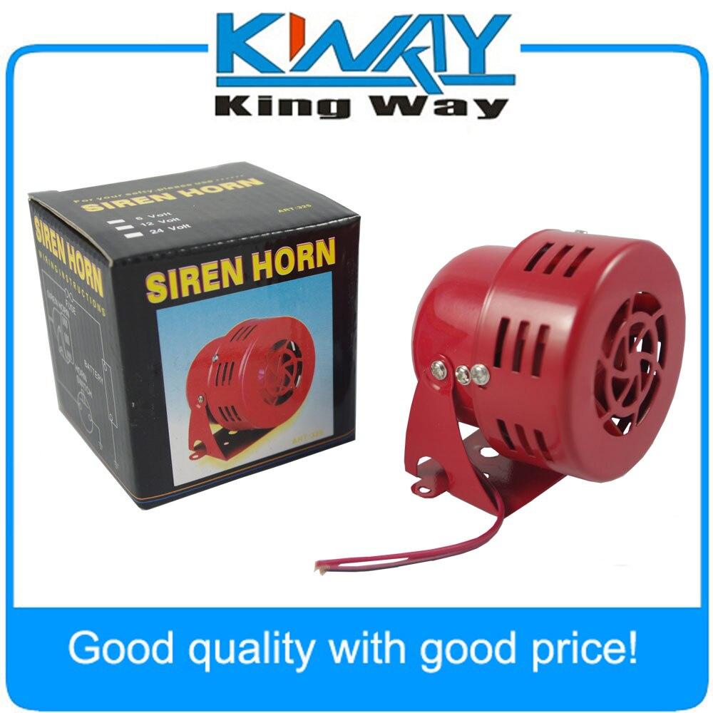 New 12V Motor Driven Red Air Raid Siren Horn Alarm Horn Car Truck 1950s Style 3