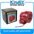 New 12V Motor Driven Red Air Raid Siren Horn Alarm Horn Car Truck  1950s Style 3""