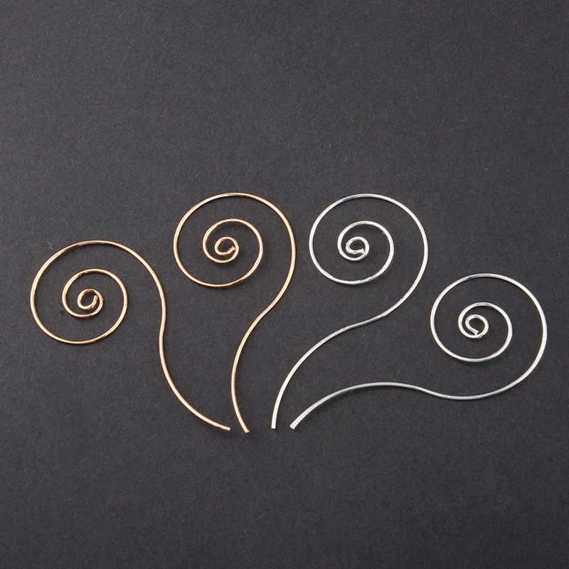 Thời trang Vòng Tròn Kim Loại Xoắn Ốc Tai Phụ Nữ Móc của Vàng Và Bạc Hợp Kim Đồ Trang Sức Hộp Đêm vòng đa-bông tai hai lớp Cho phụ nữ Quà Tặng