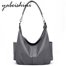 купить 2019 Women Leather Shoulder Bags Sac A Main Tote Women Messenger Bag For Women Designer Crossbody Bags Handbags Bolsa Feminina по цене 1744.33 рублей
