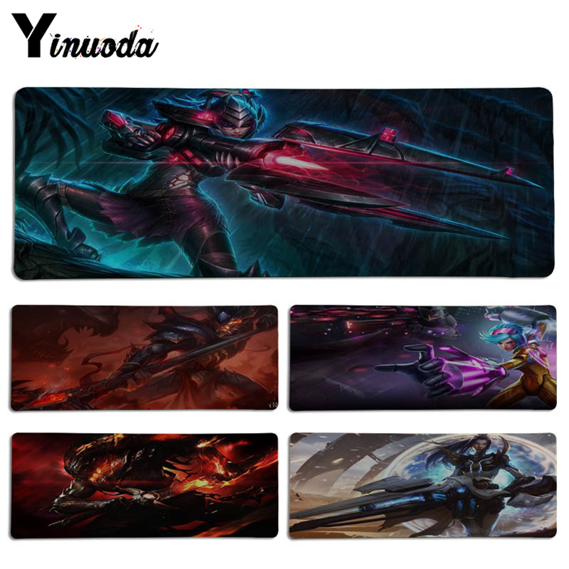 Yinuoda Top Quality Cool LOL role Keyboard Gaming MousePads Size for 30x70cm 30x90cm Rubber Rectangle Mousemats