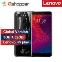 Глобальная версия lenovo K5 играть 3g Оперативная память 32G Встроенная память 4G FDD LTE 1440x720 отпечатков пальцев Octa core Dual SIM двойной камера 5,7 дюймовый...