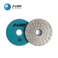 Z LION 3 2 Pcs Diamond Grinding Disc Vacuum Brazed Polishing Pad Granite Marble Concrete Fast