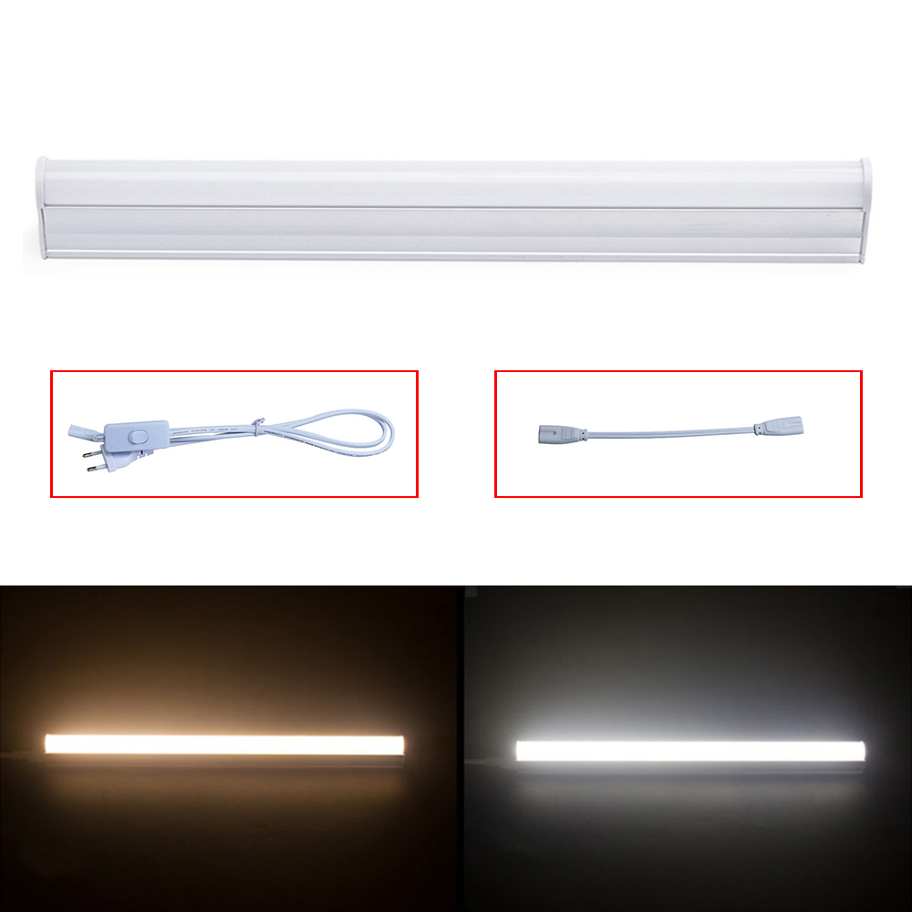 Rayway LED Light Tube AC110V 220V 5W 30CM T5 Tube Light White/Warm Daily Indoor Lighting Bulb 2835SMD High Bright Wall Lamp rayway led tube t5 lights bulbac 85 265v 30cm 5w 1ft leds fluorescent lamp led wall lamps bulbs light pvc plastic 5pcs