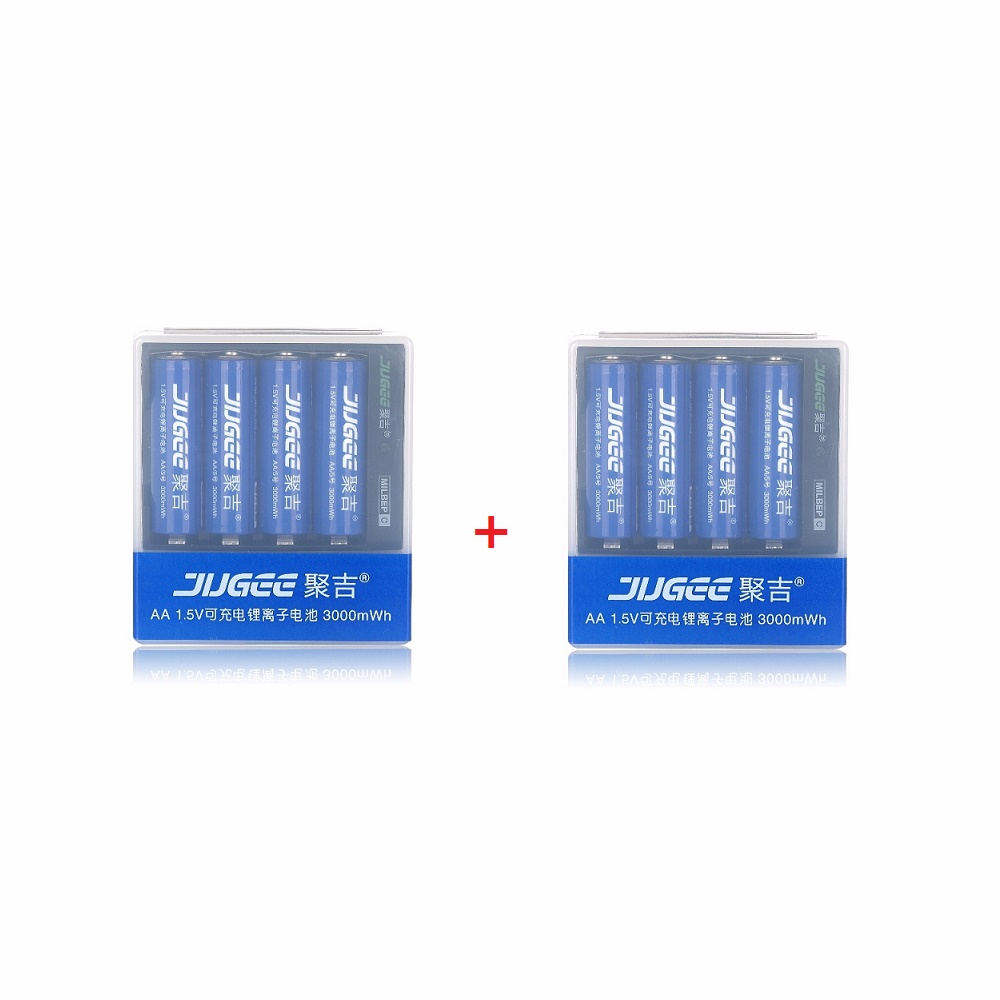 2packs(8batterys+2chargers) 1.5v 3000mWh AA Li-polymer li-ion polymer lithium rechargeable battery + 30a 3s polymer lithium battery cell charger protection board pcb 18650 li ion lithium battery charging module 12 8 16v
