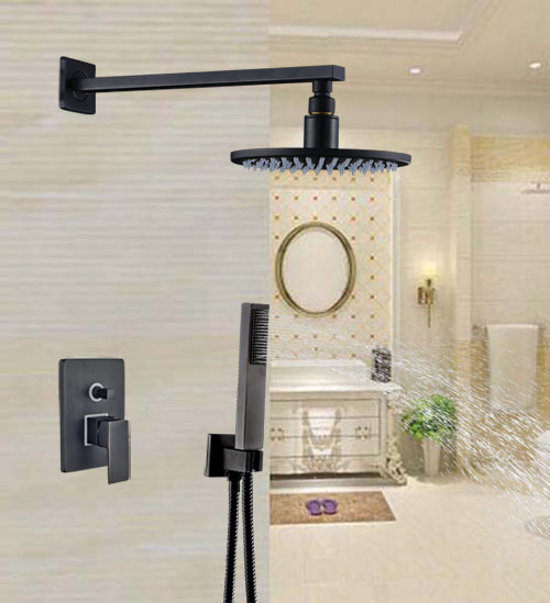 Oil Rubbed Broze 8-in Shower Units 2 Ways Shower Faucet With Hand Shower Wall Mounted newly design oil rubbed broze tooth brush holder 2 ceramic cups wall mounted