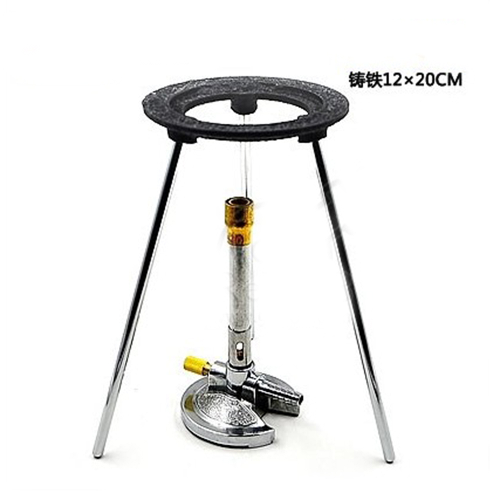 New Lab Bunsen Burner Tripod Cast Iron Support Stand 20cm Height