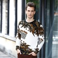 Classic New Top quality marca homens pulôver impressão suéter de cashmere de lã desigual homens frete grátis preço de atacado S16