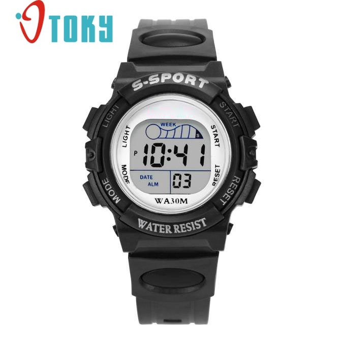 Digital LED Watch Sports Waterproof for Children Boys Kids Alarm Date Gift at3 Dropshipping hoska hd030b children quartz digital watch