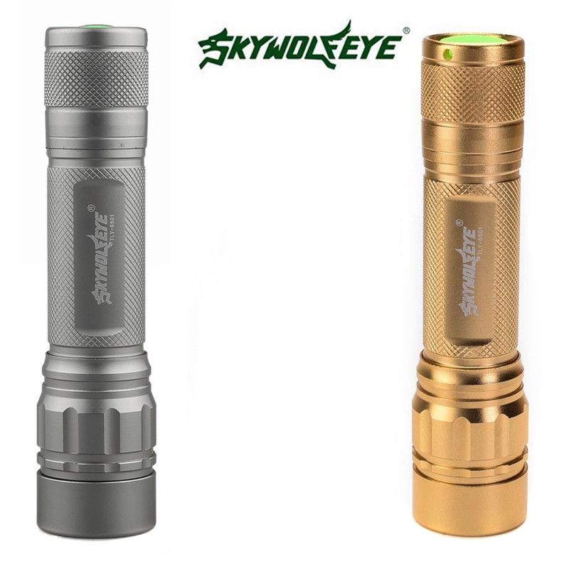 Zoomable 3000 Lumen 3 Modes XML T6 LED Focus 18650 Gold Lamp Flashlight P0.16