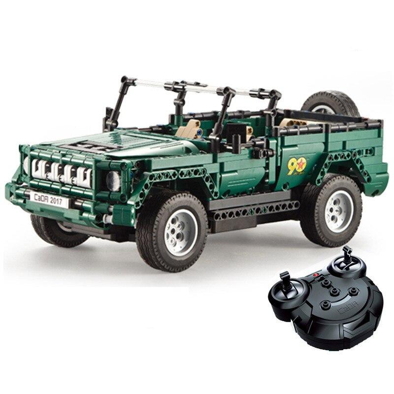 Série technique de bloc de construction de voiture de camion de Jeep de défilé militaire de télécommande de RC Compatible avec Legoingly