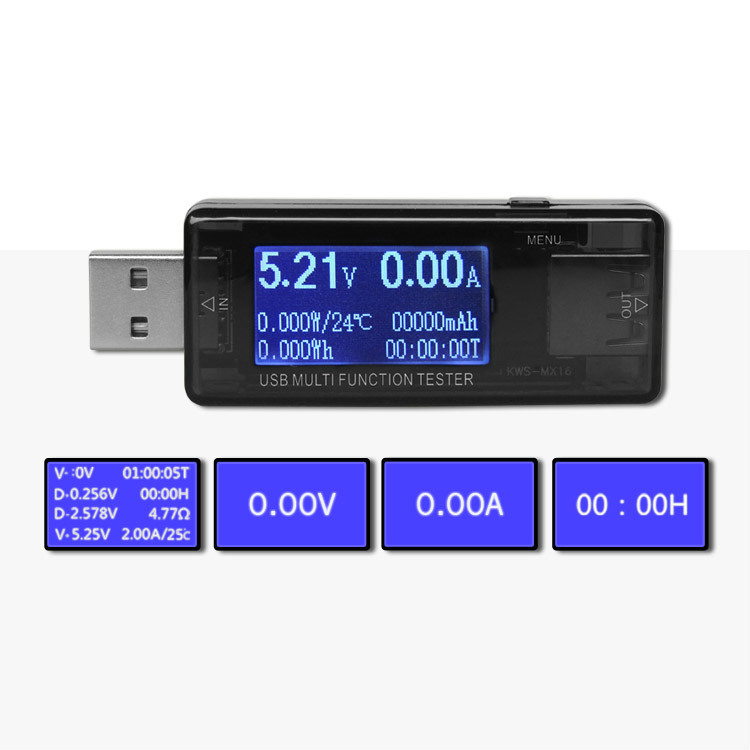 4-30V 0-5A USB Multi Function Detector Mobile Phone Charge Protector Usb Current And Voltage Test Usb Voltage Tester