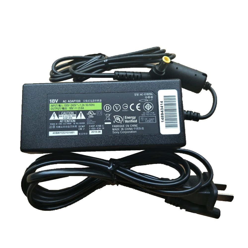 Sony AC-E1826L Genuine Charger AC Adapter Power Supply 18V 2.6A SRS-X7 SRS-X77