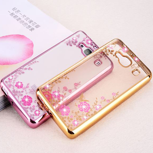 innovative design 1c287 6760e US $2.99 30% OFF|Case For Xiaomi Redmi 2/3/4 Redmi Pro 4a Mix Cover Bling  TPU Soft Flower jelly Diamond Electroplate Fundas Casing kimTHmall-in  Fitted ...