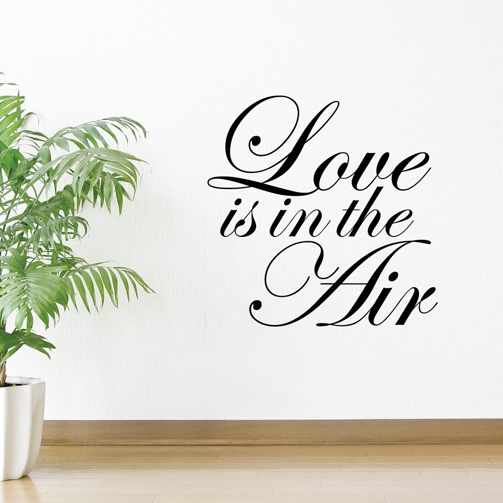 Love Is In The Air Wall Decals Home Love Wall Stickers