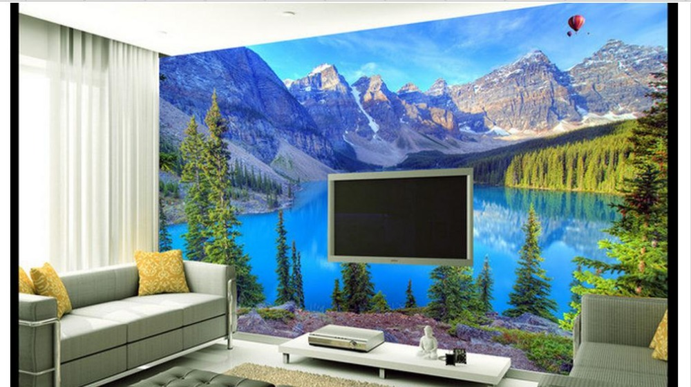 Custom 3d Mural Wallpapers Hd Landscape Mountains Lake: Custom 3d Photo Wallpaper 3d Wall Murals Wallpaper Beauty