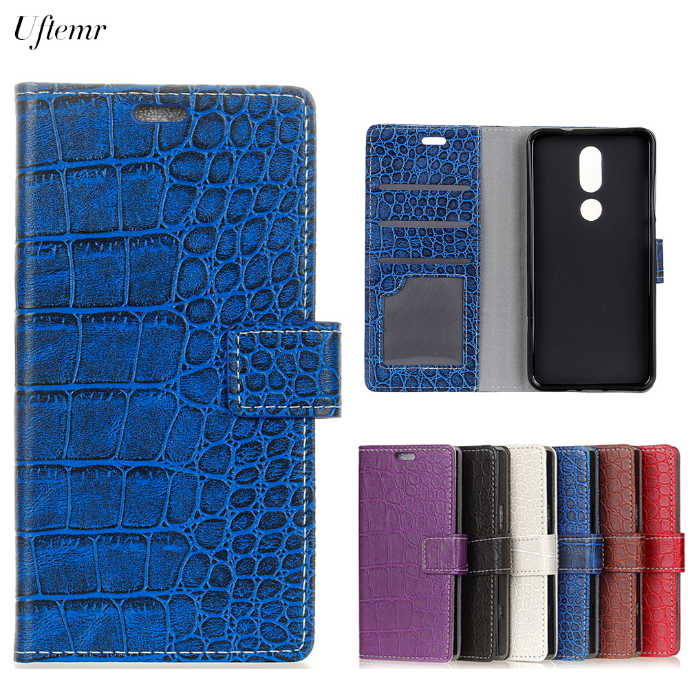 Uftemr Vintage Crocodile PU Leather Cover For Wiko View Prime Protective Silicone Case Wallet Card Slot Phone Acessories