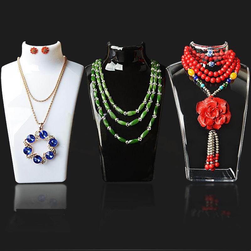 Mannequin Necklace Display-Shelf Pendant Jewelry Show Three-Colors Decorate 20--13.5--7.5cm