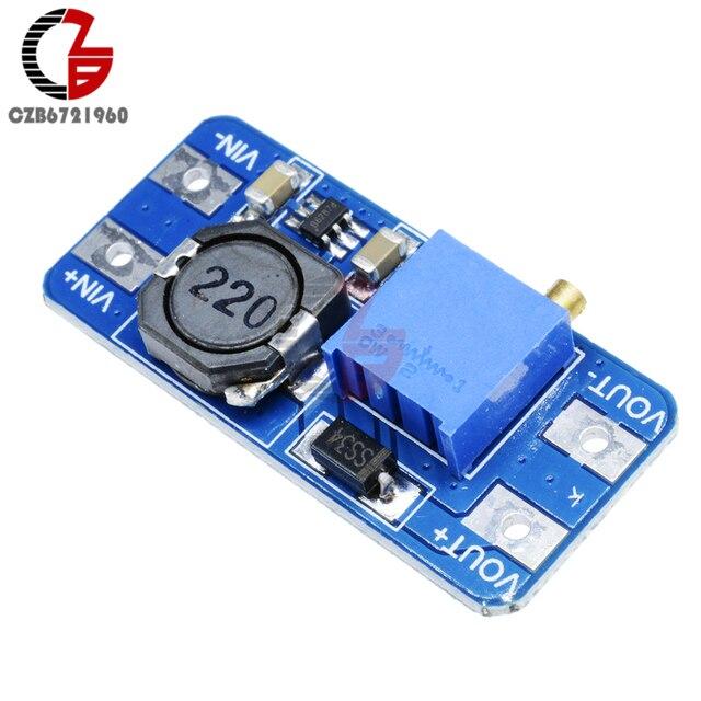 US $0 67 |MT3608 Step Up Boost Coverter Module 12V 2A DC DC Voltage  Regulator Booster Adjustable Power Transformer Supply Potentiometer-in