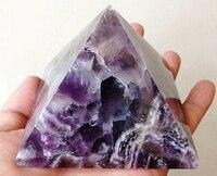 Naturalny sen ametyst kwarc kryształowa piramida cięcia polerowane uzdrowienie