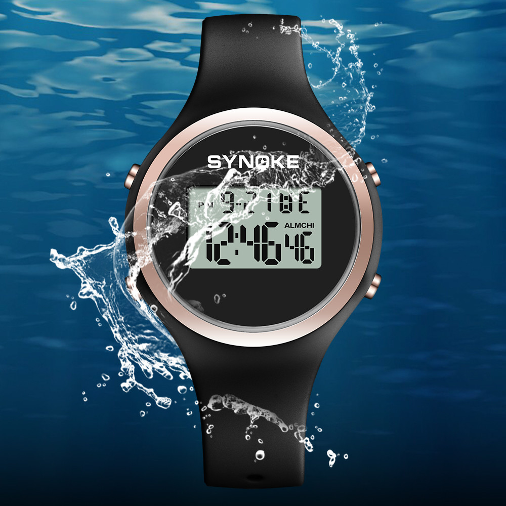 Sport Watch New Fashion SYNOKE Student Sports Watches Digital Watch 50m Waterproof Watch Chronograph LED 313