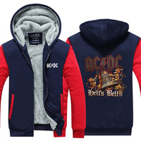 Novelty Design 3d AC DC Bell Skull Mens Hoodies Chain Acdc Bell I Got My Bell