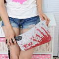Creative personality handbags 2015 new fashion cleaver clutch bags blood choppers purse handbag creative phone package