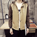 Модели Взрыва бесплатная Доставка 2017 Весной И Осенью Стиль мужской Моды Случайные Куртка С Капюшоном Моды для Мужчин Мужской Пальто