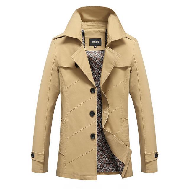 La primavera y el otoño de los hombres chaqueta fina de la cazadora con capucha capa larga de Corea ropa de los hombres tamaño delgado marea marca