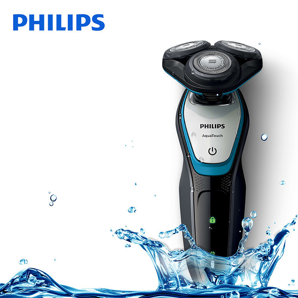 Philips cara afeitar aquatouch mojado y seco máquina de afeitar eléctrica  S5070 04 40 min uso inalámbrico 1 h carga con ComfortCut sistema Blade en  ... 2f805b04c202