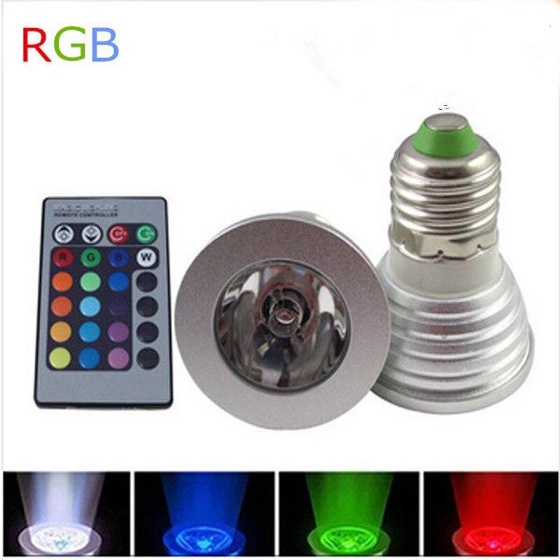 3 Вт E27 GU10 <font><b>RGB</b></font> СВЕТОДИОДНЫЕ Лампочки 16 Цвет гамма изменение лампы прожектор с пульт дистанционного управления для домашней партии улучшение а&#8230;