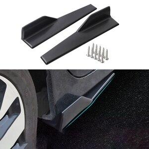 Image 5 - 2 unids/par divisores de cohete para el cuerpo del coche, fibra de carbono, Universal, modificado, antiarañazos, alas de 45cm, parachoques