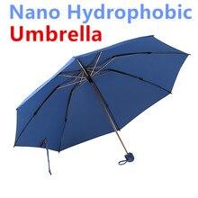 Дождь Улыбка «Супер нано гидрофобные три раза путешествия дождь Солнце Зонтик быстро самостоятельной сушки анти-УФ ветрозащитный легкий вес дизайн