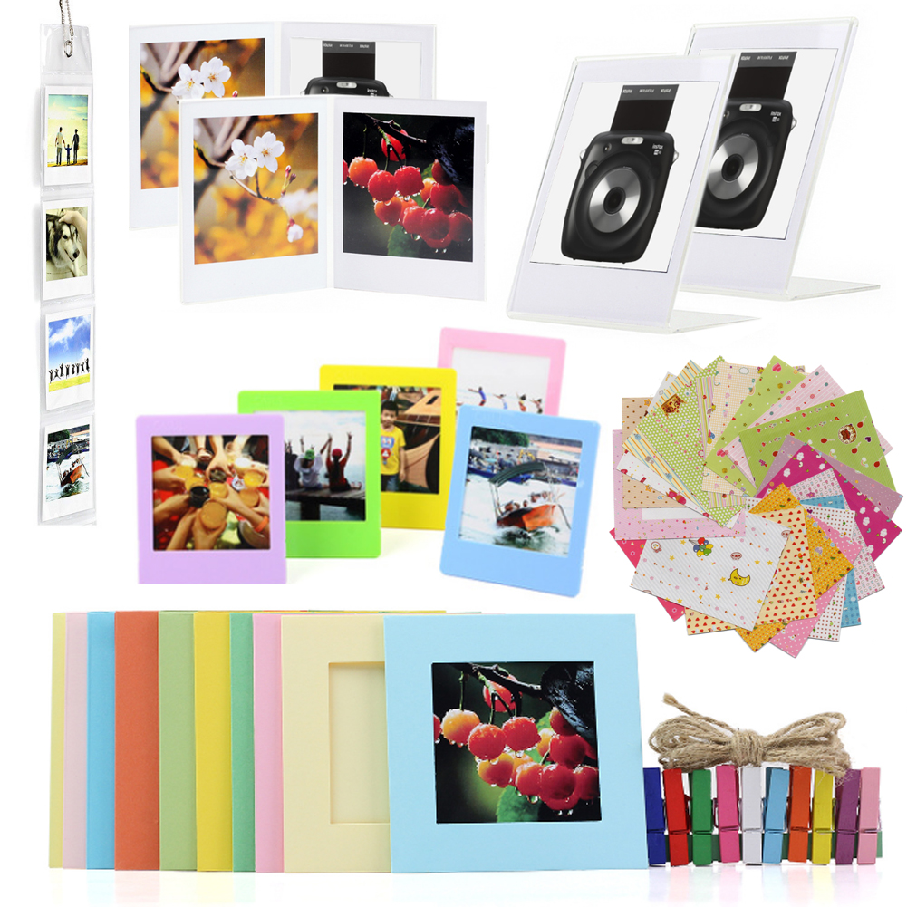 Camera Accessories Bundle for Fujifilm Instax Square SQ20/SQ10/SQ6/SP 3 Pack of Stickers, Wall Hang Frame, Desk Frame-in Camera/Video Bags from Consumer Electronics